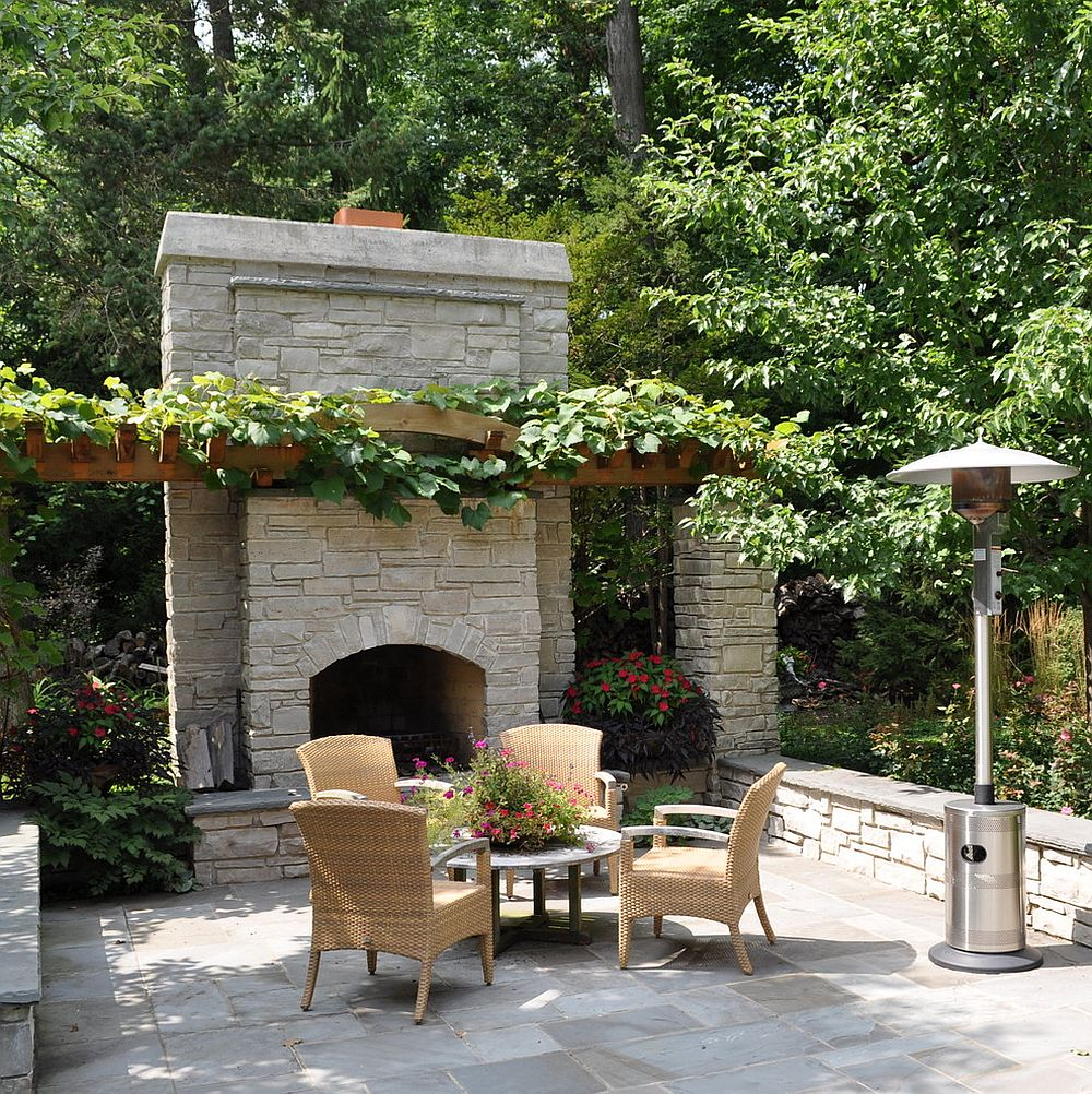 Sizzling Style How to Decorate a Stylish Outdoor Hangout with a Fireplace