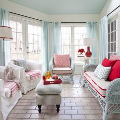 Beachy Living Room Curtains Design Help For 25 Cheerful And Relaxing Beach-style Sunrooms