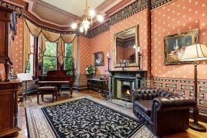 victorian living interior homes modern rooms interiors pattern rug pebble rich purple dark feast vivacious senses