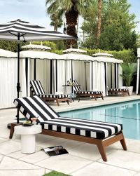 Patio Furniture and Decor Trend: Bold Black and White