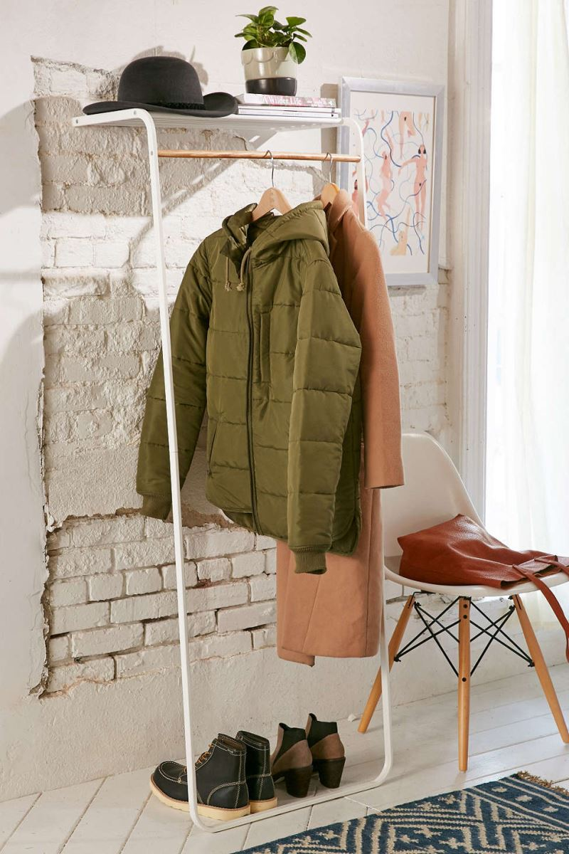 Standing Coat Rack  Stylish Storage for Your Wardrobe