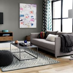 Living Room With Sofa And Two Accent Chairs Light Grey Brown Furniture Modular Style: 10 Handy Uses For The Pouf