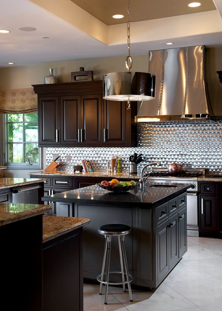 Sparkling Trend Gorgeous Kitchens Bright Metallic Glint
