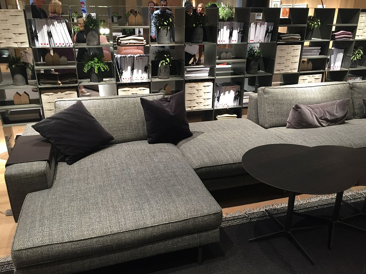 Comfy contemporary couch in gray from Verzelloni  Decoist