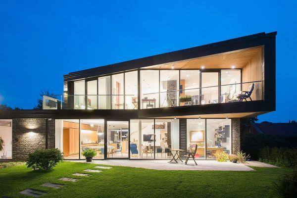 Villa U In Denmark Home Dressed Dark Patinated Zinc