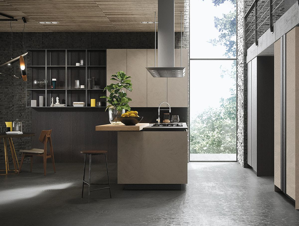 kitchen cabinets design with islands drawers look: minimalism enclosed in fluid and unparalleled ...