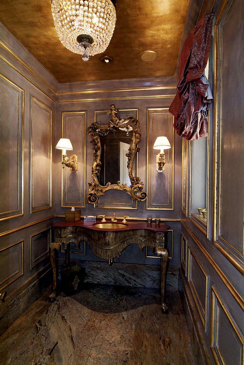 A Timeless Affair 15 Exquisite VictorianStyle Powder Rooms