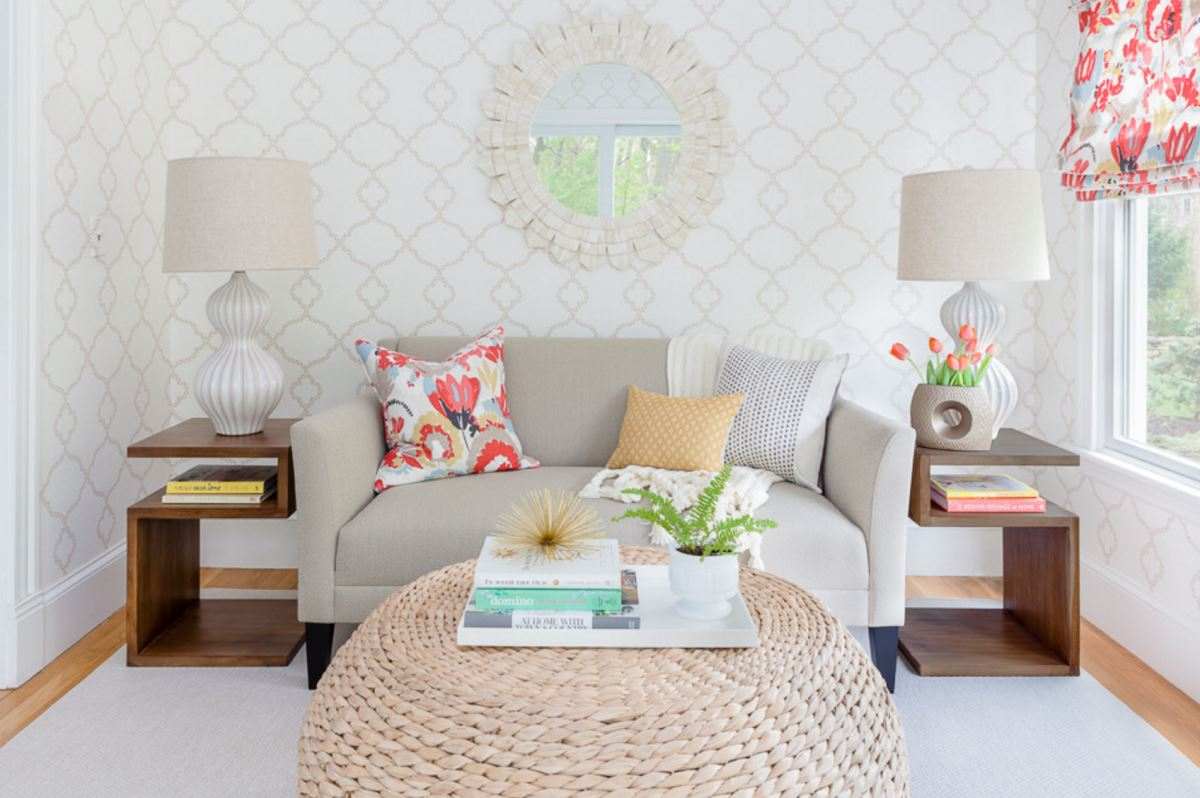 living room pouf window treatment ideas pictures modular style 10 handy uses for the view in gallery coffee table a wallpapered