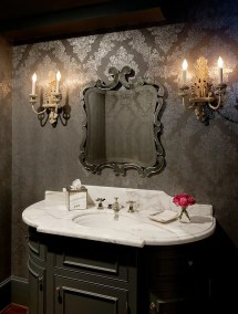 Victorian Style Powder Room