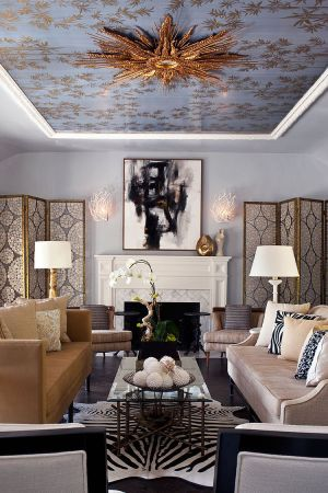 ceiling living ceilings mirror rooms complete gordon elizabeth magical stunning multicolored designs decor wall drawing wallpapered modern decorating space idea