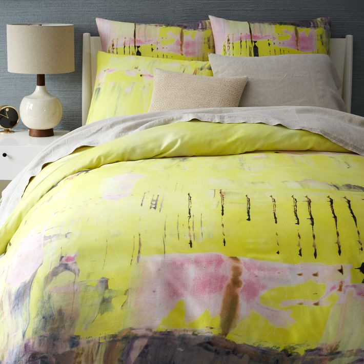 spring bedding ideas abstract and