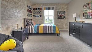 brick bedroom rooms walls wall grey variety comes wide styles finishes exposed boys children cool modern decor playroom any digsdigs