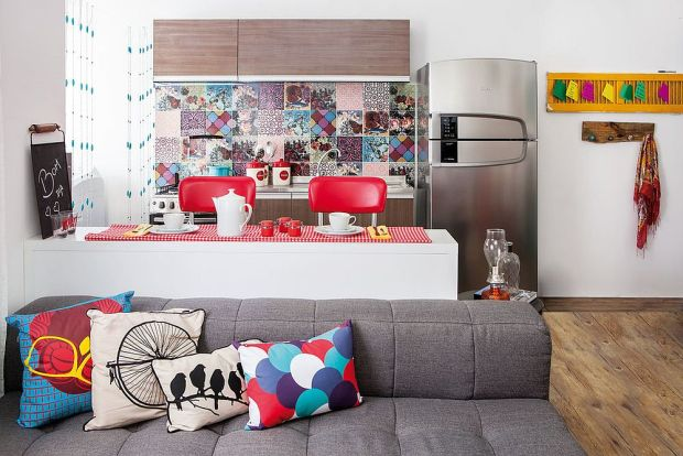 Patchwork Tiles Bright and Colorful Jewel Toned Kitchen Backsplash