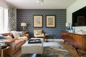 geometric modern interiors midcentury mid century rooms awesome