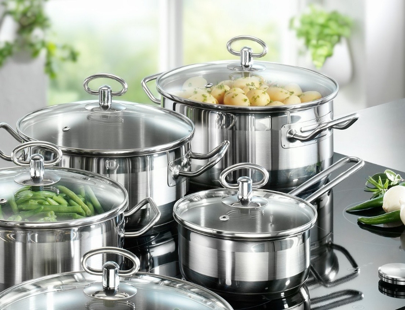 kitchen pots new knives stainless steel for the modern