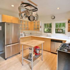 Pot Racks For Kitchen Farm Table Stainless Steel Pots The Modern View In Gallery With An Overhead Rack