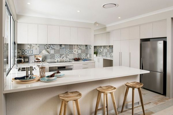 scandinavian kitchen tile designs 25 Creative Patchwork Tile Ideas Full of Color and Pattern