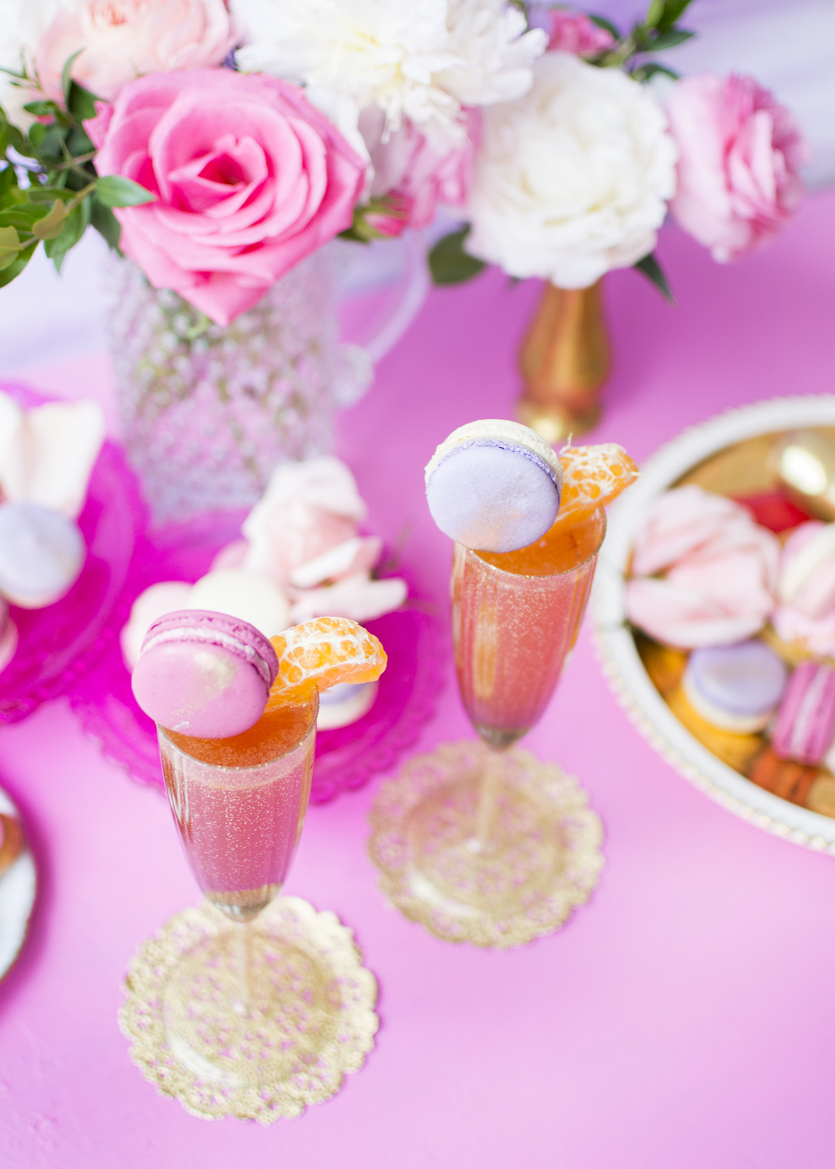 Macaron garnishes from Random Acts of Pastel