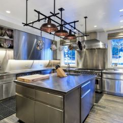 Pot Racks For Kitchen Remodeling Tampa Stainless Steel Pots The Modern View In Gallery With A Sculptural Rack