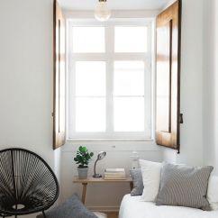 Small Living Room Interiors Design Ceiling Light In Serenely Scandinavian: Light-filled Renovation Of Lisbon ...