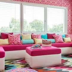Bright Colored Living Room Rugs Leather Furniture Canada Colorful Zest 25 Eye Catching Rug Ideas For Kids Rooms Snazzy Multi Looks Great Even In Neutral Design