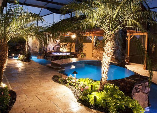 fascinating pool bridge ideas