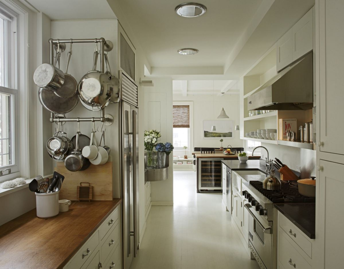 pot racks for kitchen pulls and knobs stainless steel pots the modern view in gallery wall mounted