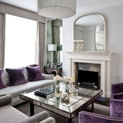 End Table Ideas Living Room Where To Buy Rugs 30 Mirrored Coffee Tables That Add A Sparkle Your Home Art Deco With Splashes Of Purple And Design Gemma