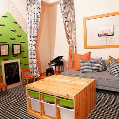 Kids Living Room Furniture Decorating Ideas In Blue 7 Practical Ways To Make The Most Of Corners Corner Stage Playroom Is A Fun Addition Design Mary Meinz