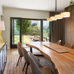 Living Room Interior Design Ideas With Dining Table For A Long Wall Raw Natural Goodness 50 Live Edge Tables That Wow View In Gallery Custom Gives The Unique Spatial Dimension Justrich