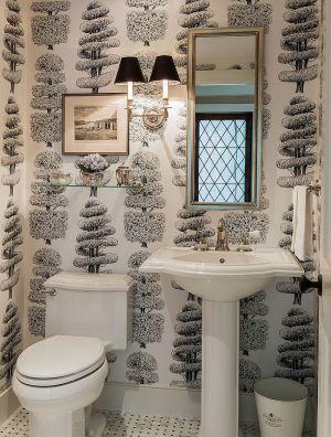 powder rooms traditional noir trend always