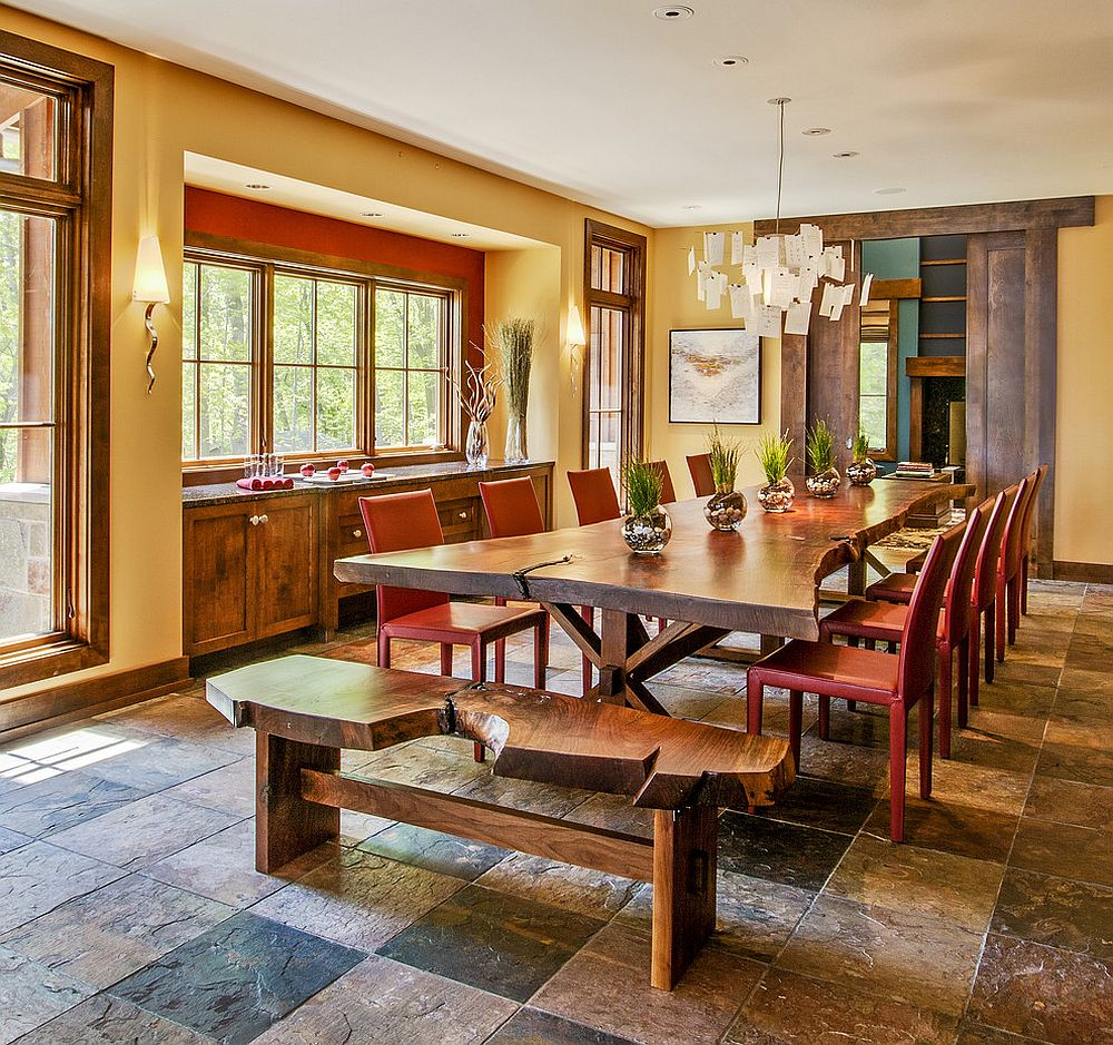 Raw Natural Goodness 50 LiveEdge Dining Tables That Wow