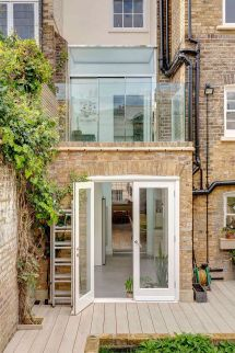 London Terrace House Smart Extension With Walk