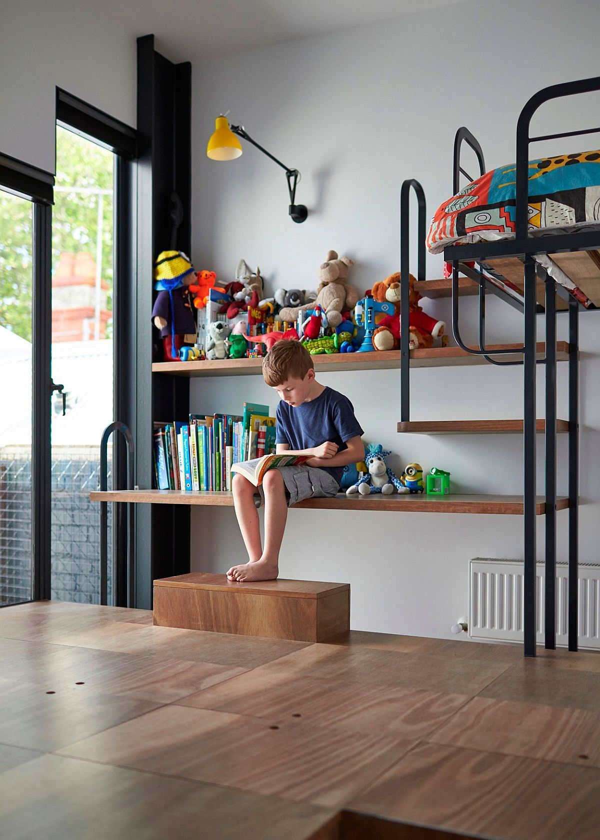kitchen light fixtures island with drop leaf custom design turns the floor into toy storage space
