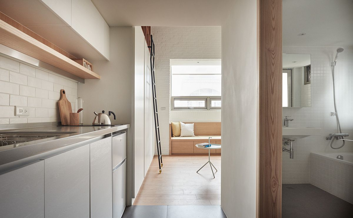 Going Vertical Tiny 22Sqm Apartment Maximizes Space in Style