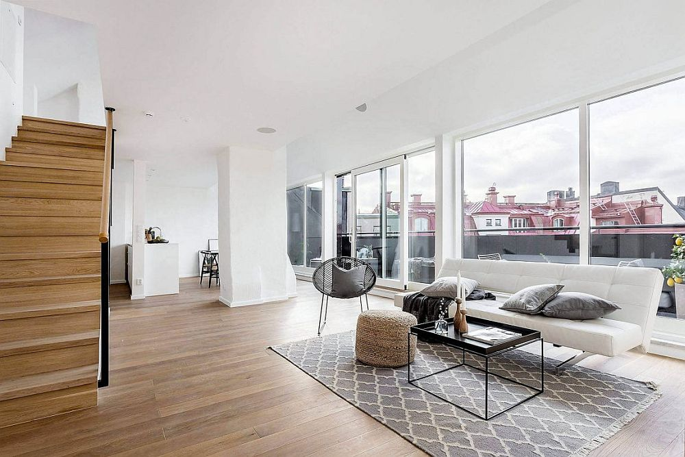 World of White and Gray ScandinavianStyle Apartment in