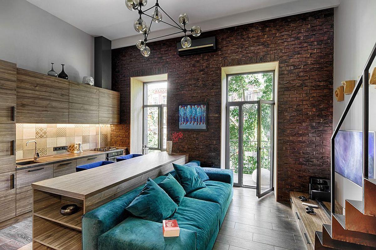 MezzanineLevel Bedroom Adds Extra Space to Small Kiev