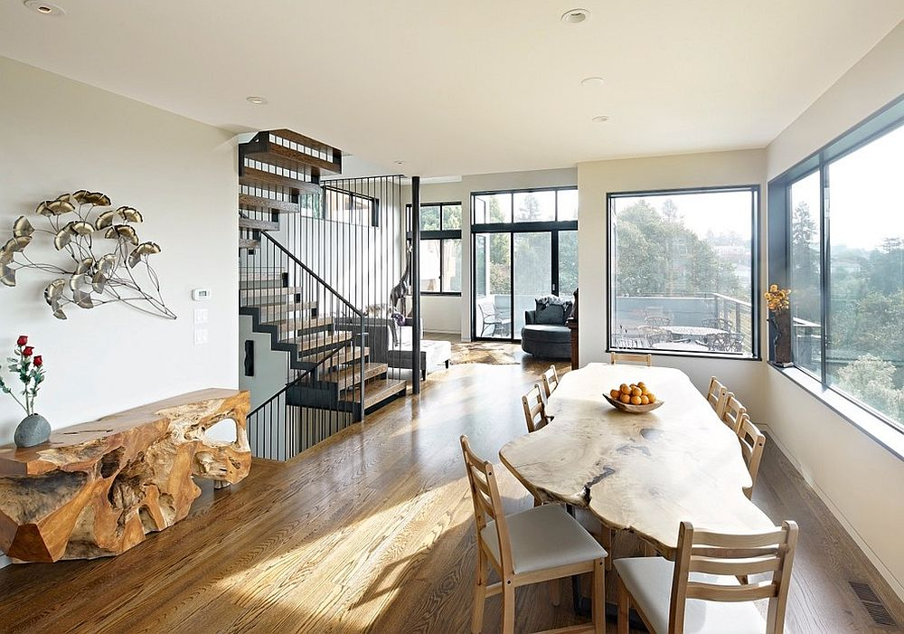 dining table in living room pictures travertine tile wall raw natural goodness 50 live edge tables that wow view gallery stunning side complements the perfectly design axial to terminal