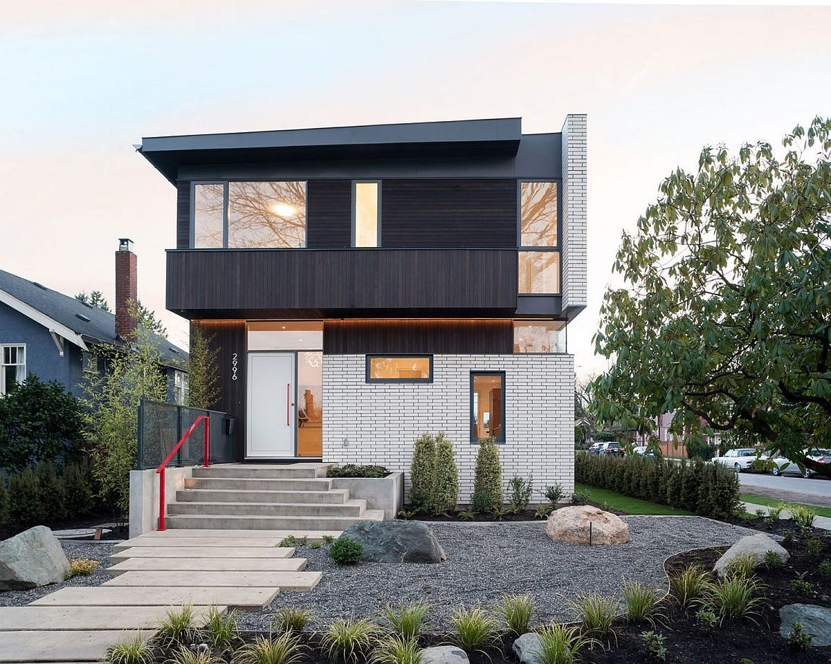 This Vancouver Home Wows with a White Brick Faade and