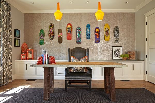 fun office design ideas 25 Ingenious Ways to Bring Reclaimed Wood into Your Home