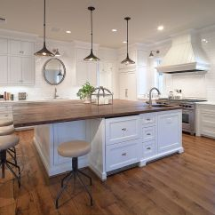 Oak Kitchen Islands Wood Tile Floor 20 Gorgeous Ways To Add Reclaimed Your View In Gallery Large Counter Top For The Island With Breakfast Zone From Carl