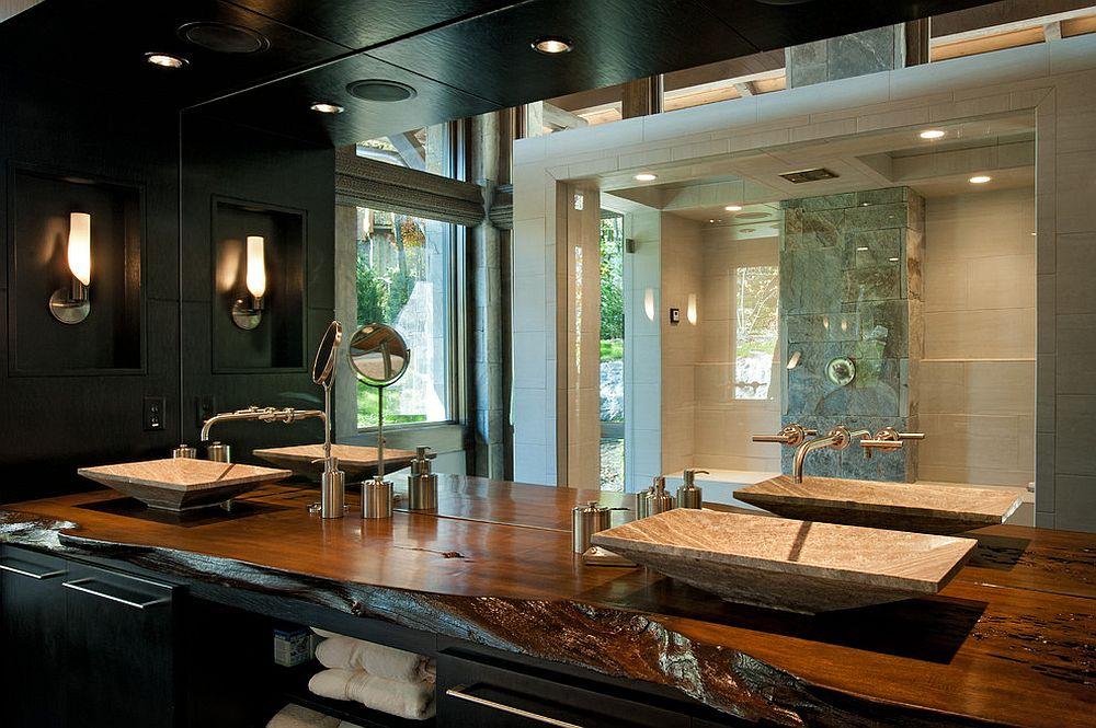 A Natural Treat LiveEdge Vanity Top Redefines Modern