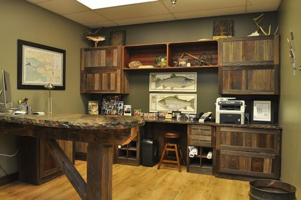 rustic home office design 25 Ingenious Ways to Bring Reclaimed Wood into Your Home Office