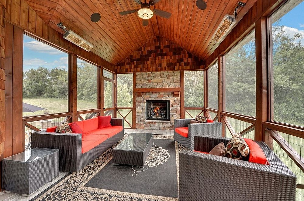 cozy and creative rustic sunrooms