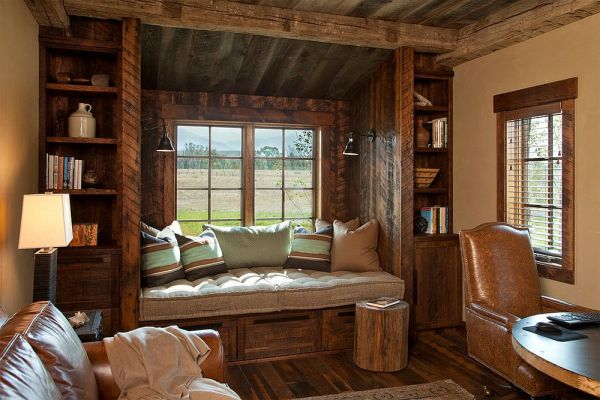 home office window bench 25 Ingenious Ways to Bring Reclaimed Wood into Your Home
