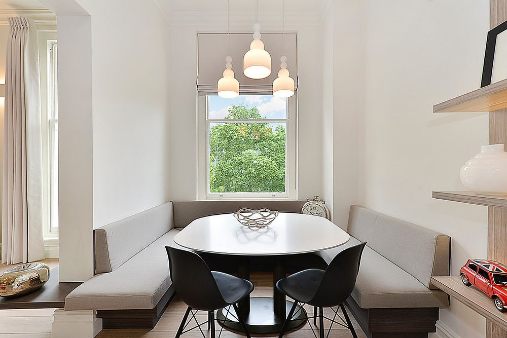 space saver kitchen table painting cabinets home depot refined simplicity: 20 banquette ideas for your ...
