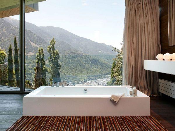 Modern Residence In Andorra Offers Window Pyrenees