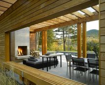 Modern Pool House Patio