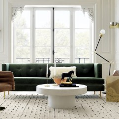 Tufted Gray Sofa Retro Modern Leather What Is A Drawing Room?
