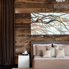 Wood Wall Living Room Leather Furniture Ideas 25 Awesome Bedrooms With Reclaimed Walls Lovers Of Rustic Design Will Enjoy The Presence In Contemporary Bedroom